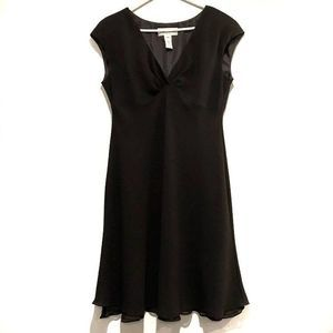 Jones Wear Vintage Flare Cocktail Dress Black 14